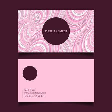 modèle de carte de visite modifiable, doucement rose palette de couleurs, vecteur de conception.