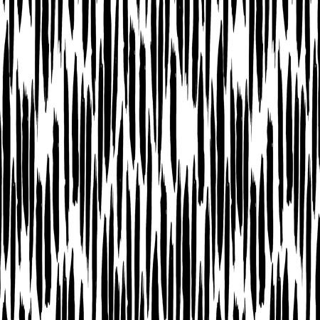 Muster Vektor mit unvorsichtigen Schlägen wie vertikale gestrichelte Linien. Zusammenfassung Hintergrund mit Pinselstriche. Schwarze und weiße Hand gezeichnet Textur.