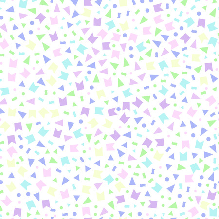 dense: seamless pattern consisting triangles flags dots-vector illustration. Background of small stars, dense texture. Gentle pastel colors, pink purple, blue.