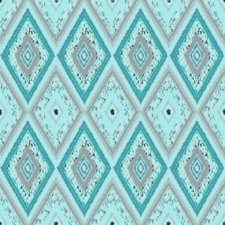 pastel shades: seamless pattern of tribal-vector illustration. Soft pastel shades of color. Emerald, light green background.