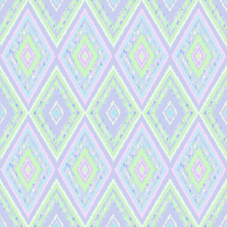 pastel shades: seamless pattern of tribal-vector illustration. Soft pastel shades of color. Lilac background.