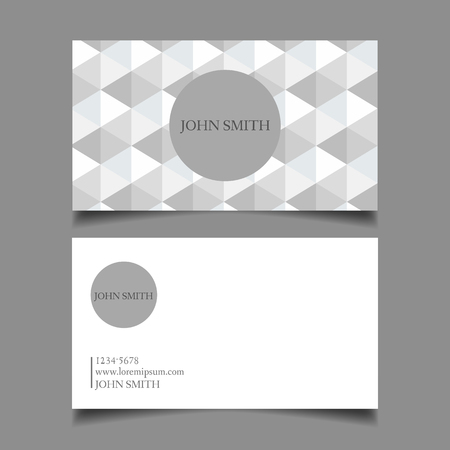 neat: Business card template, editable, neat design of the draft map-vector illustration