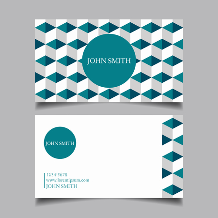 Template business card, editable, neat, celadon, the design of the project card-vector illustration