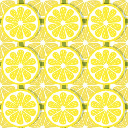 zest: seamless pattern of lemons-vector illustration. Bright print texture lemon yellow. Natural bright lemon. Lemon wedges are symmetrical. Lemon fruit.