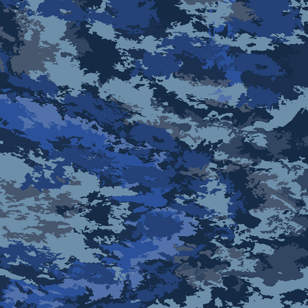 Abstract background vector-dark blue spots. Marine background camouflage. Ilustrace