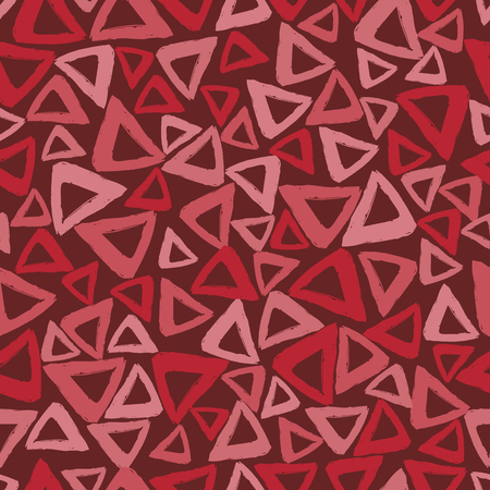 smears: Vector seamless pattern with careless strokes in the form triangles. Abstract background made using of brush smears.