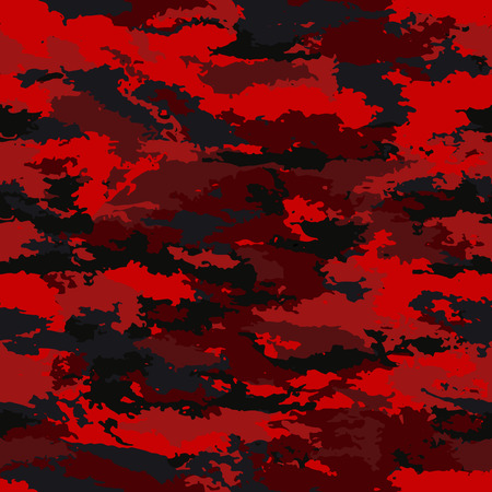 A seamless Camouflage military pattern on a black background.