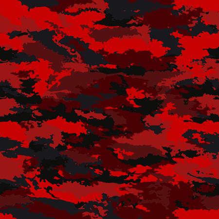 Un motif militaire camouflage sans soudure sur un fond noir. Vecteurs
