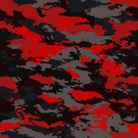 Camouflage military background. Camouflage bright red background - vector illustration. Abstract pattern seamless