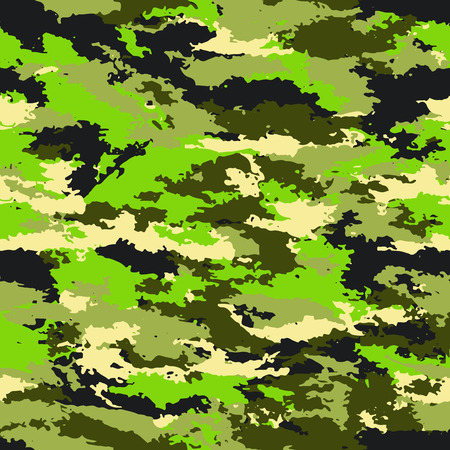 Camouflage protective military background. Camouflage background - vector illustration. Abstract seamless pattern Illustration