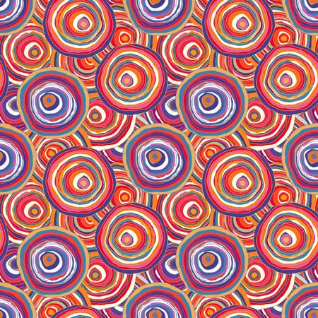 Circles contour multicolored Imagens