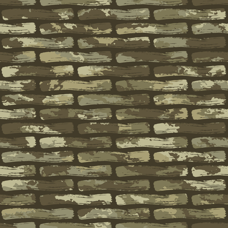 Seamless brushes brick pattern camouflage pattern-vector illustration. Ilustrace