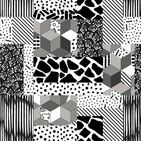 Patchwork seamless texture Zdjęcie Seryjne - 119629539