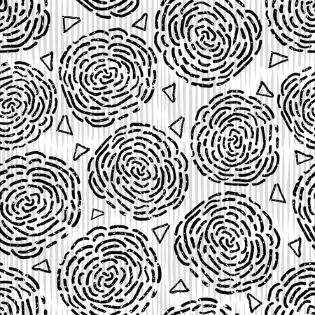 Seamless pattern floral ornament