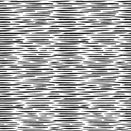 Pattern seamless vector with careless strokes as vertical dashed lines. Abstract background using brush strokes. Black and white hand drawn texture.
