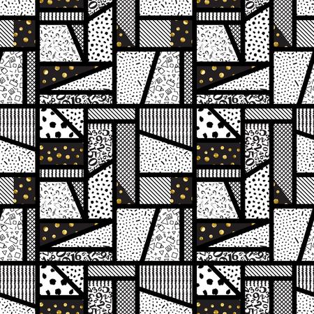 patchwork background vector Ilustrace