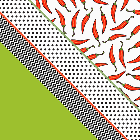 vector pepper background