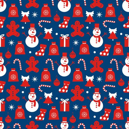 seamless pattern Christmas  イラスト・ベクター素材