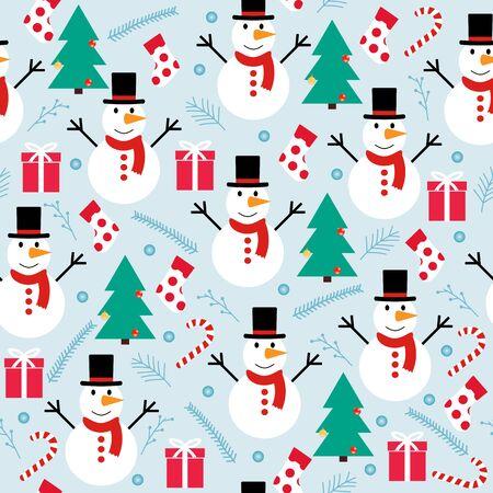 snowflakes seamless pattern  イラスト・ベクター素材