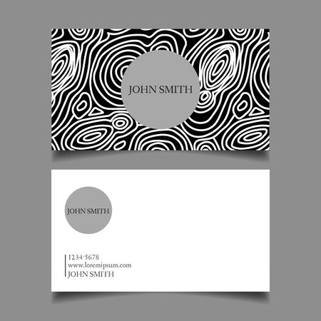 abstract typographic pattern card  イラスト・ベクター素材