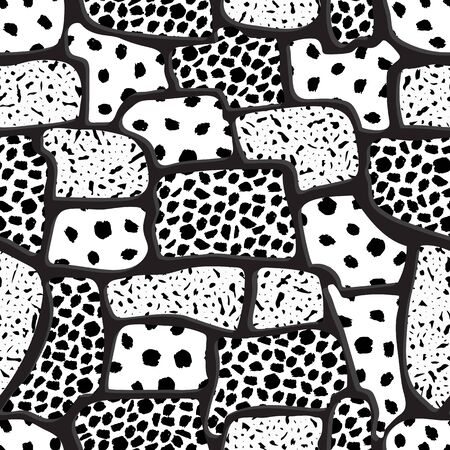 Distressed seamless pattern, paint spots. Watercolor Monochrome background textured. Chaotic, random brush strokes. Abstract art texture, wallpaper, wrapping  イラスト・ベクター素材