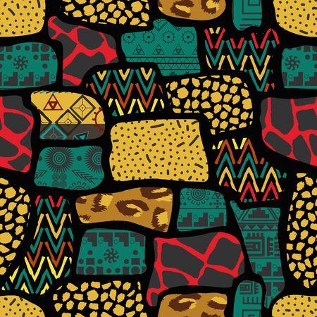 Ethnic boho seamless pattern  イラスト・ベクター素材