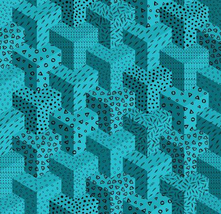 Vector seamless pattern geometric