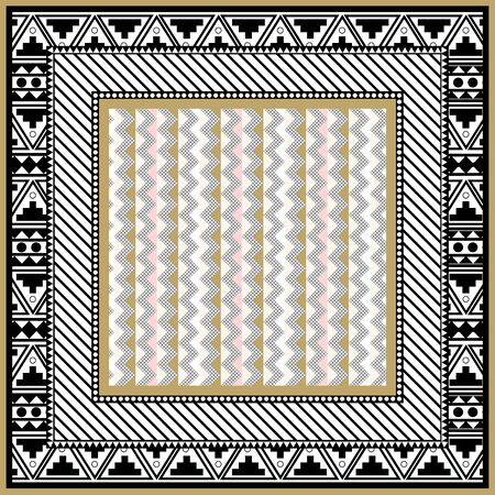 triangle retro pattern for scarf design Abstract pattern-vector illustration. Hijab pattern in the frame of triangles. Geometric shapes with different spot point textures.