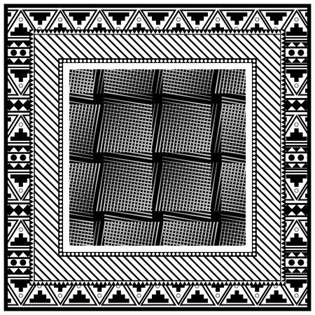 Halftone dots background handkerchief bandana. Original retro design.
