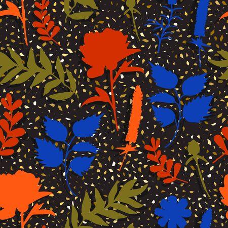 abstract seamless pattern flower Illusztráció