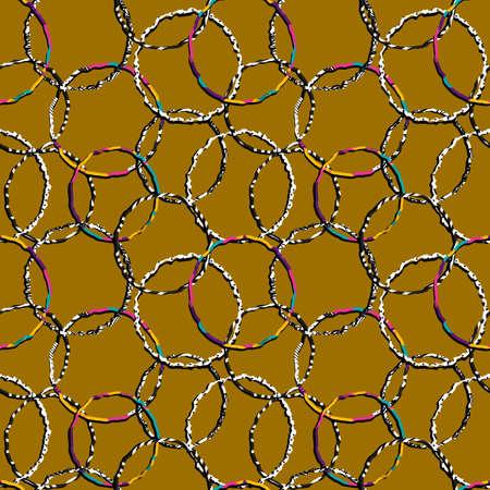 rings seamless pattern Illusztráció