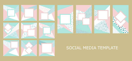template social media