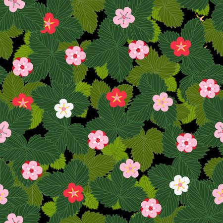 seamless pattern strawberries