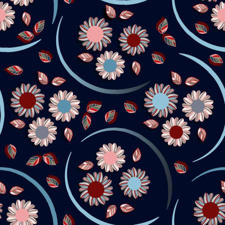 flower seamless pattern Illusztráció