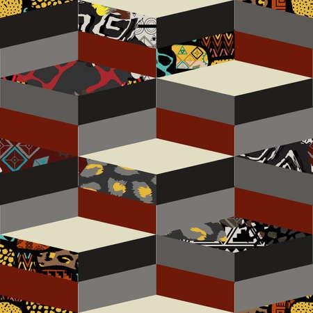 Abstract geometric seamless pattern Illusztráció