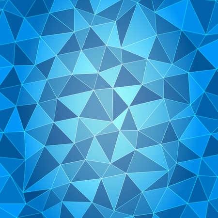 Polygonal background blue Illusztráció