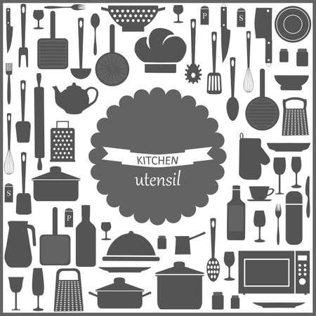 Kitchen utensils card