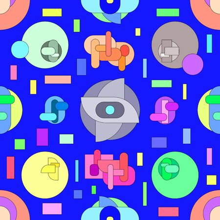 Abstract bright pattern in geometric style. Modern illustration with geometric figures. Stockfoto - 133572404