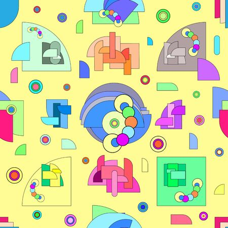 Abstract pattern in geometric style. Modern illustration with geometric figures.