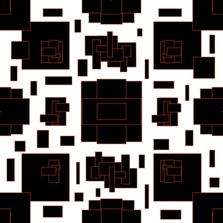Abstract pattern in geometric style. Black and white illustration with geometric figures.