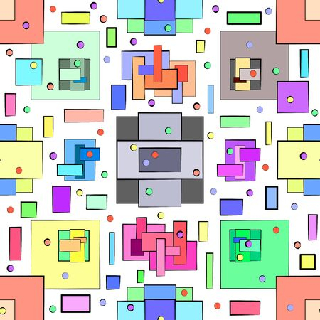 Abstract pattern in geometric style. Illustration with geometric figures.