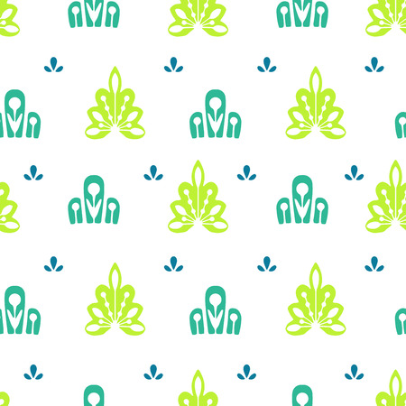 Seamlees pattern ethnic motives. For textiles and printed products Illustration