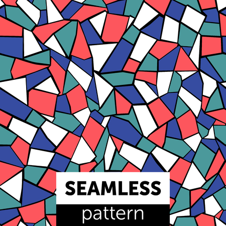 Seamless abstract mosaic pattern. For textiles and printed products