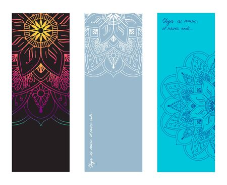 Set of colorful yoga mat vector pattern