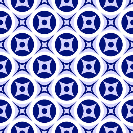 ordered: Bright abstract seamless ornament. Blue and white pattern. Vector illustration.
