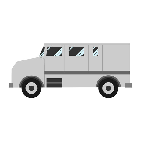 Collector car isolated on white background. Vector illustration.