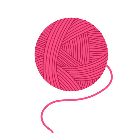 Pink yarn icon.