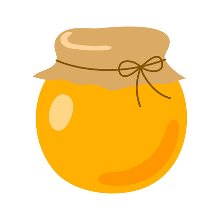 A jar of honey icon on white background.  イラスト・ベクター素材