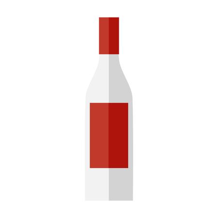 Bottle of vodka. Flat design.