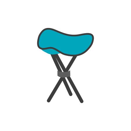 Folding stool isolated on white